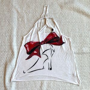 White tank top with heel 👠